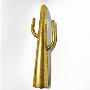 "Metal 16"" cactus jewelry stand"